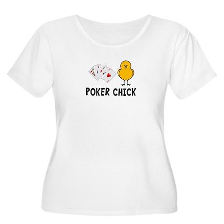 Poker Chick Women's Plus Size Scoop Neck T-Shirt