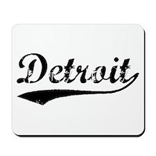 Vintage Detroit (Black) Mousepad