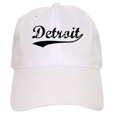 Vintage Detroit (Black) Baseball Cap