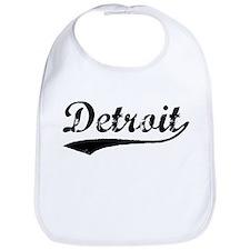 Vintage Detroit (Black) Bib