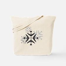 B-52 Aviation Snowflake Tote Bag