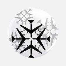 "B-52 Aviation Snowflake 3.5"" Button"