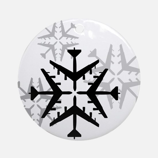 B-52 Aviation Snowflake Ornament (Round)