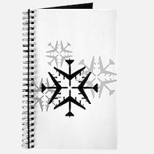 B-52 Aviation Snowflake Journal