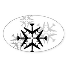 B-52 Aviation Snowflake Decal