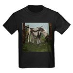 Painted Horse and Foal Kids Dark T-Shirt