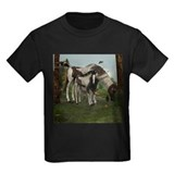 Horse and foal Kids T-shirts (Dark)