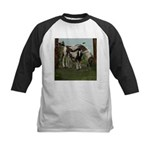 Painted Horse and Foal Kids Baseball Jersey