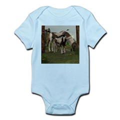 Painted Horse and Foal Infant Bodysuit