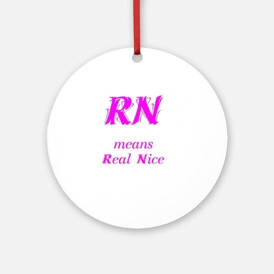Pink RN Ornament (Round)