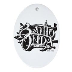ZISTO WHITE BO Oval Ornament