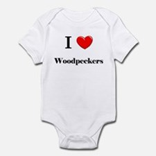 I Love Woodpeckers Infant Bodysuit