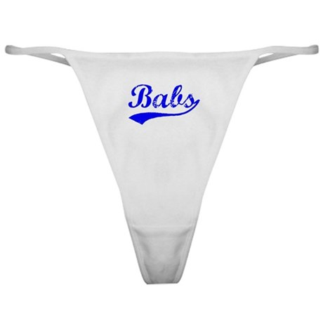 Vintage Babs (Blue) Classic Thong