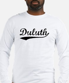 Vintage Duluth (Black) Long Sleeve T-Shirt