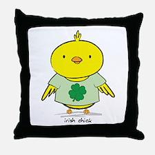 Irish Chick Throw Pillow