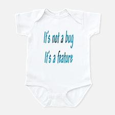 It's a feature Infant Bodysuit