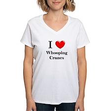 I Love Whooping Cranes Shirt