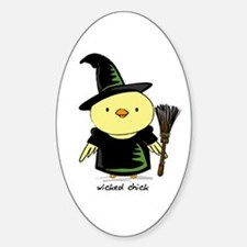 Wicked Chick Oval Decal