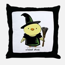 Wicked Chick Throw Pillow