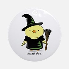 Wicked Chick Round Ornament