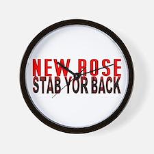NEW ROSE stab yor back Wall Clock