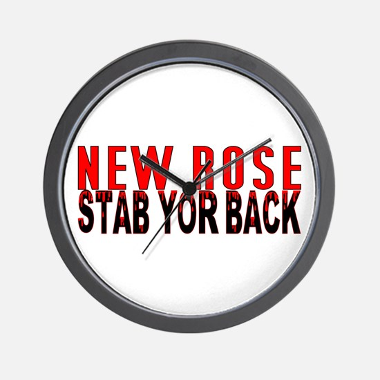 NEW ROSE stab yor back Wall Clock