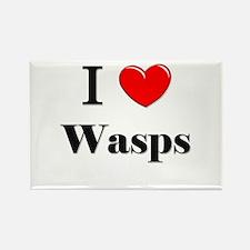 I Love Wasps Rectangle Magnet
