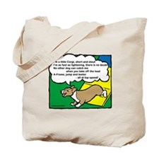 Agility Corgi Cartoon Tote Bag