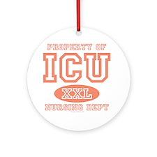Property Of ICU Nursing Dept Nurse Ornament (Round
