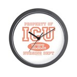 Property Of ICU Nursing Dept Nurse Wall Clock