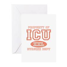 Property Of ICU Nursing Nurse Greeting Cards 10 pk