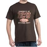 Property Of ICU Nursing Dept Nurse Brown T-Shirt