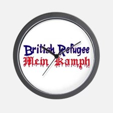 British Refugee mein kampf Wall Clock