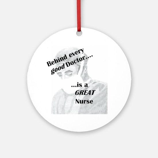Great Nurse Ornament (Round)