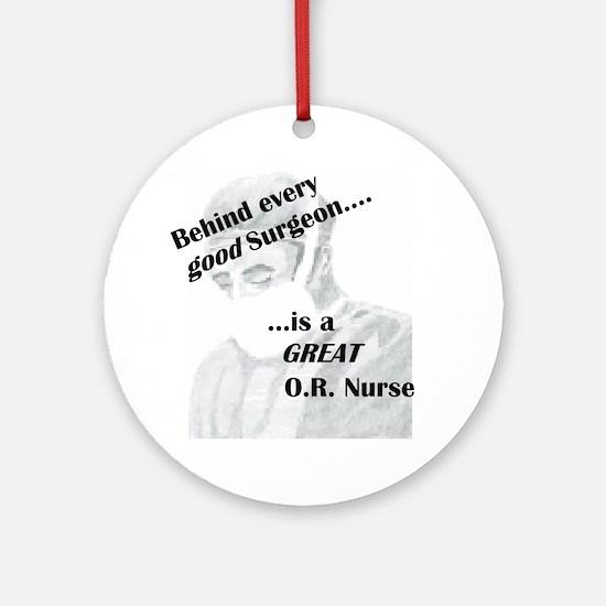 Great O.R. Nurse Ornament (Round)