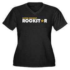 Dental Hygienist Rockstar 2 Women's Plus Size V-Ne