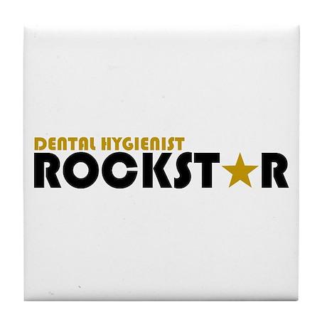 Dental Hygienist Rockstar 2 Tile Coaster