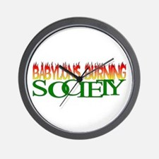 BABYLONS BURNING society Wall Clock