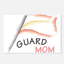 Cute Colorguard mom Postcards (Package of 8)