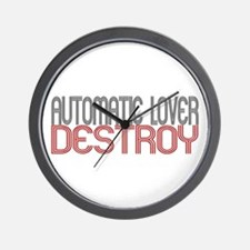 AUTOMATIC LOVER destroy Wall Clock
