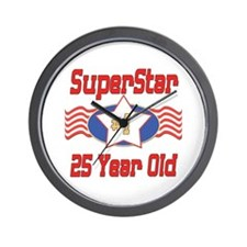 Superstar at 25 Wall Clock