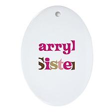 Darryl's Sister Oval Ornament