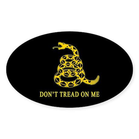 Don't Tread on Me Oval Sticker