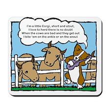 Herding Corgi Cartoon Mousepad