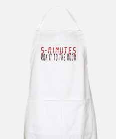 5 MINUTES rok it to the moon Apron