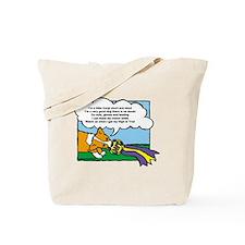 Obedience Corgi Cartoon Tote Bag