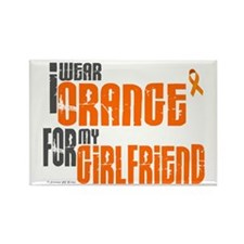 I Wear Orange For My Girlfriend 6 Rectangle Magnet
