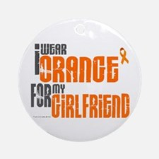 I Wear Orange For My Girlfriend 6 Ornament (Round)