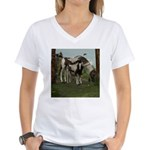 Painted Horse and Foal Women's V-Neck T-Shirt