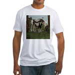 Painted Horse and Foal Fitted T-Shirt